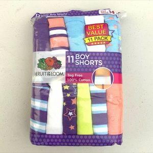 Fruit Of The Loom 11 Girls' Boy Shorts